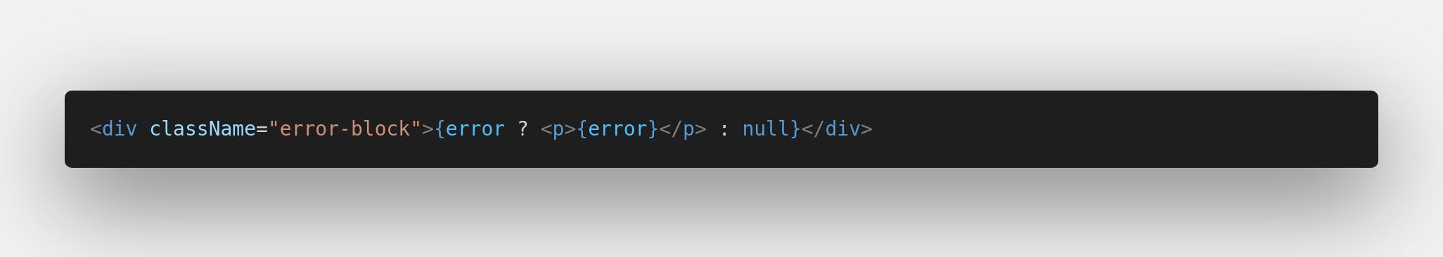 element error display